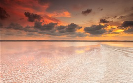 Preview wallpaper Spain, Valencia, salt lake, dawn, sky, clouds