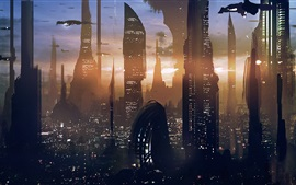 Preview wallpaper Star Wars, skyscraper, future city