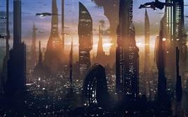 Star Wars, rascacielos, ciudad futura