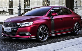 Preview wallpaper 2014 DS 5LS R, Citroen red concept car