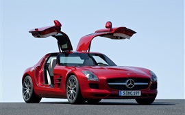 Preview wallpaper 2014 Mercedes-Benz SLS 63 AMG red car