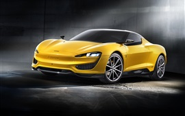 Preview wallpaper 2015 Magna Steyr yellow car
