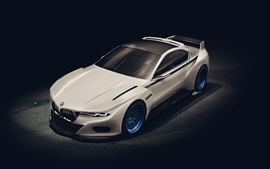 Preview wallpaper BMW 3.0 CSL white car top view