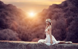 Балерина, девушка, солнце