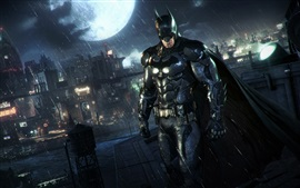 Preview wallpaper Batman: Arkham Knight, rain, night
