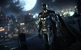 Batman: Arkham Knight, дождь, ночью