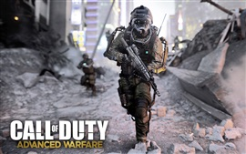 Preview wallpaper Call of Duty: Advanced Warfare, soldier chase