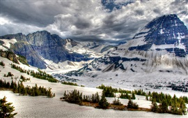 Preview wallpaper Canada, Banff Park, winter, mountains, snow, trees