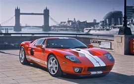Preview wallpaper Ford GT orange race car