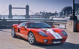 壁紙のプレビュー フォードGTオレンジ色のレースカー