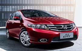 Preview wallpaper Honda City, red car