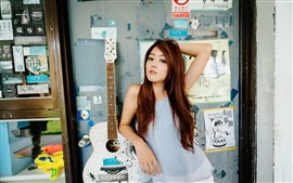 Preview wallpaper Hong Kong girl, guitar, music