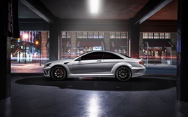 Preview wallpaper Mercedes-Benz CL63 AMG silver car side view