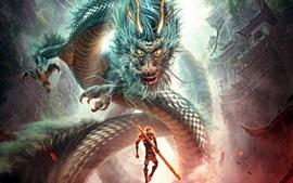 Monkey King: héroe está de vuelta, lucha dragón