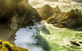Preview wallpaper Monterey County, California, USA, McWay Falls, sea