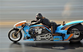Preview wallpaper Motorcycle, speed, drag racing