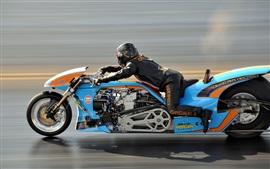 Motocicleta, velocidade, corridas de arrancada