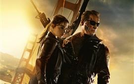 Terminator: Génesis, Emilia Clarke, Arnold Schwarzenegger