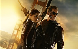 Preview wallpaper Terminator: Genisys, Emilia Clarke, Arnold Schwarzenegger