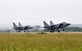 Preview wallpaper The MiG-31, fighter, taking off