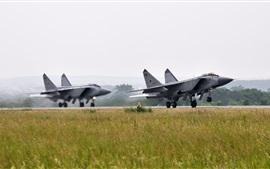 O MiG-31, lutador, tirando