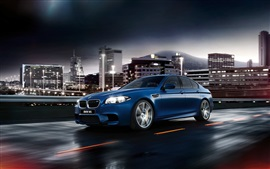 2015 BMW M5 F10 blue car side view