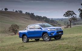 Aperçu fond d'écran 2,015 Toyota Hilux SR5 jeep bleue