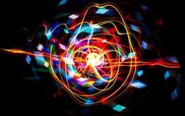 Аннотация цветов, изогнутые линии, свет