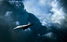Preview wallpaper Air France, British-French supersonic passenger plane
