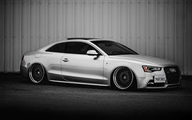 Preview wallpaper Audi S5 silver car side view