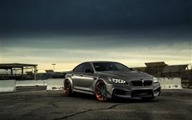 BMW M6 매트 검은 차