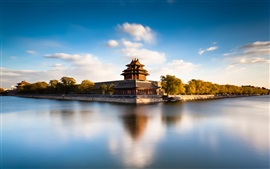 Preview wallpaper Beijing Forbidden City Moat, China, river, water reflection
