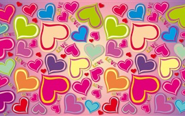 Preview wallpaper Colorful hearts, love