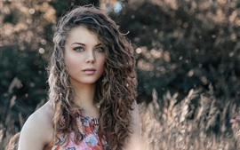 Preview wallpaper Curly hair fashion girl