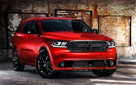 Preview wallpaper Dodge Durango red car front view