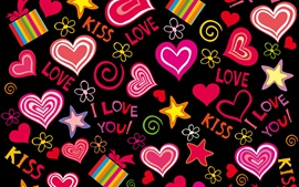 Preview wallpaper Love hearts, vector, romantic, Valentine day