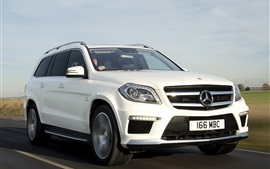 Preview wallpaper Mercedes-Benz GL63 AMG white car