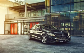Preview wallpaper Mercedes-Benz S-Class black car, Lorinser, Germany brand