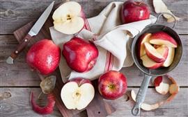 Rote Äpfel, Messer