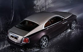 Rolls-Royce Wraith luxury car at night