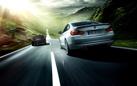 Preview wallpaper 2014 Alpina BMW 4 Series car speed