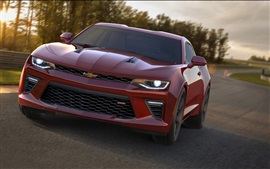 Preview wallpaper 2015 Chevrolet Camaro SS car front view