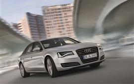 Audi A8L серебра скорость автомобиля