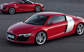 Preview wallpaper Audi car red color