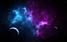 Preview wallpaper Beautiful space, stars, planets, cosmos