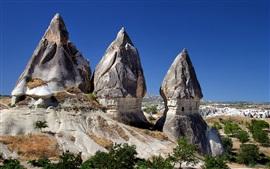 카파도키아, 터키, 산, 바위