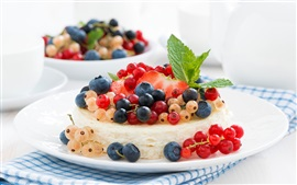Preview wallpaper Cheesecake, cake, dessert, berries