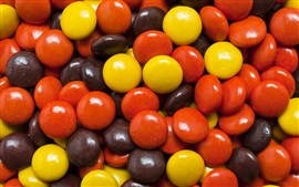Colorful candy macro photography