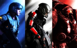 Preview wallpaper Halo, Warhammer 40K, Starcraft, PC game