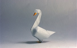 Preview wallpaper Origami art, white swan